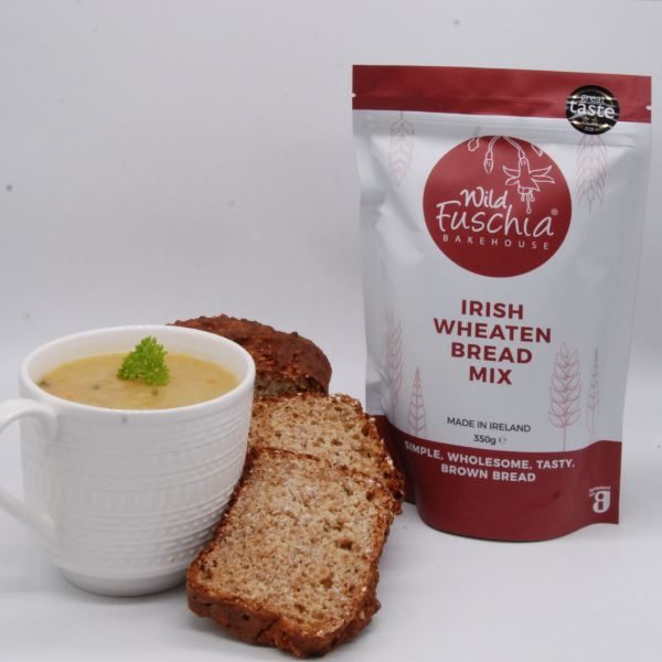 Wild Fuschia Bakehouse Irish Wheaten Bread Mix and Bread with home made soup